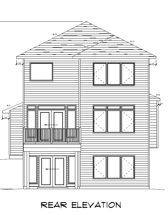 91 Rear Elevation